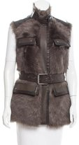 Belstaff Banbury Shearling Vest w/ Tags