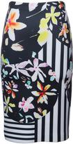 Clover Canyon - Knee Length Neoprene Floral Skirt