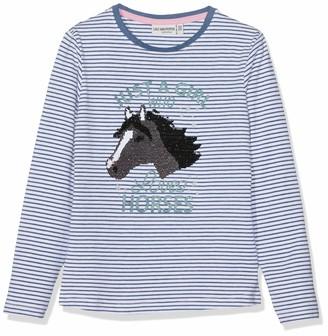 Salt&Pepper Salt and Pepper Girls' Longsleeve Horses Stripe T-Shirt