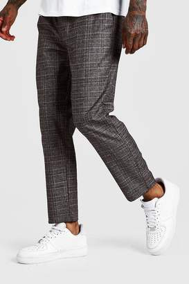 boohoo Check Smart Jogger Trouser