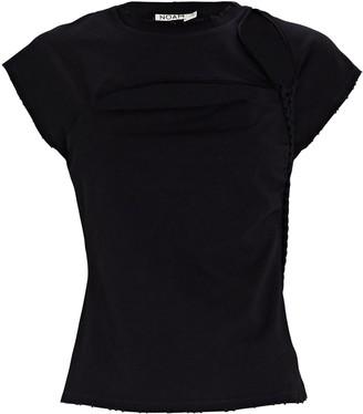 NOAM Slash Cut-Out Crewneck T-Shirt
