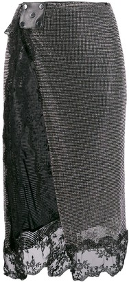 Christopher Kane Crystal Mesh Skirt