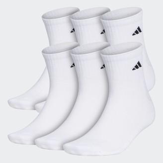 adidas Athletic Cushioned Quarter Socks 6 Pairs XL