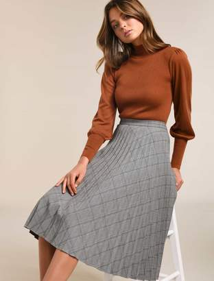 Ever New Audrey Check Pleat Skirt