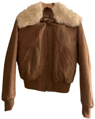 Chloé Camel Fur Leather Jacket for Women