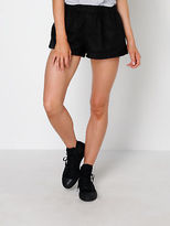Nude Lucy Faile Pull On Runner Shorts In Black Linen size XXS