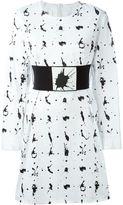 MM6 MAISON MARGIELA belted paint splatter dress