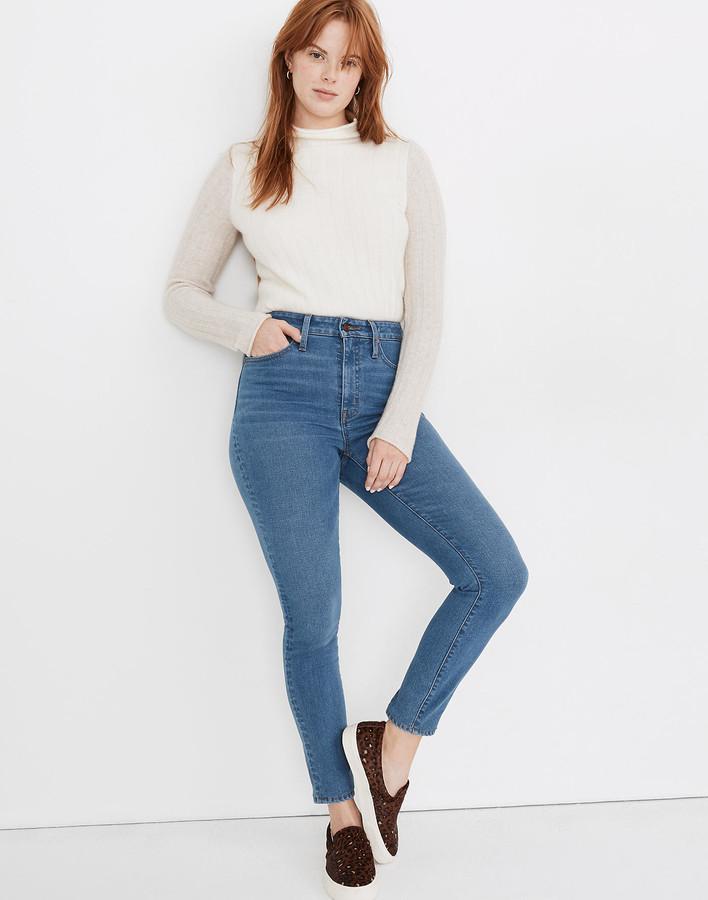 Madewell Petite Curvy High-Rise Skinny Jeans in Astoria Wash: TENCEL Denim Edition