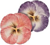 Fitz & Floyd Halcyon Pansy Snack Plates (Set of 2)