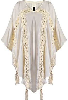 Gisy Lyric Lace Trim Pointy Hem Kaftan