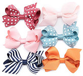 Starting Out Baby Girls Mini Dots Striped Bow 6-Pack