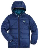 Lacoste Boys' Reversible Puffer Coat - Little Kid, Big Kid