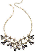 INC International Concepts Gold-Tone Stone & Crystal Star Statement Necklace, Created for Macy's
