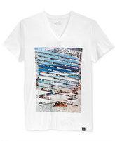 Armani Exchange Men's Horizon Break V-Neck T-Shirt