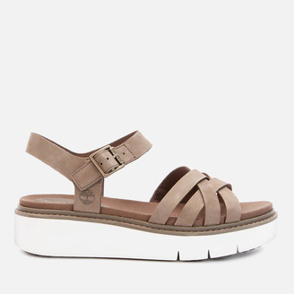 Timberland Women's Safari Dawn Multi Nubuck Flatform Sandals - Olive