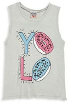 Junk Food Clothing Girl's Yolo Donut Tank Top
