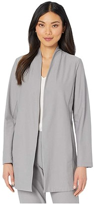 Eileen Fisher Long Jacket (Zinc) Women's Clothing