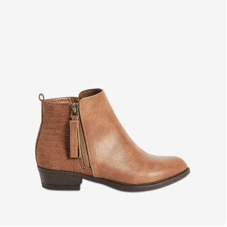 Joe Fresh Kid Girls' Side Zipper Boots, Brown (Size 6)