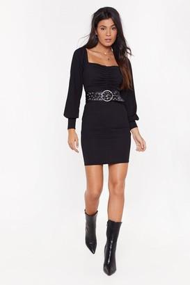 Nasty Gal Womens All Night Long Ruched Mini Dress - black - 6