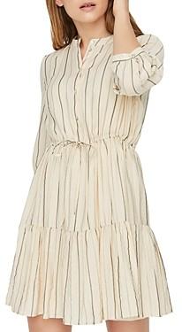 Vero Moda Striped Tiered-Skirt Dress