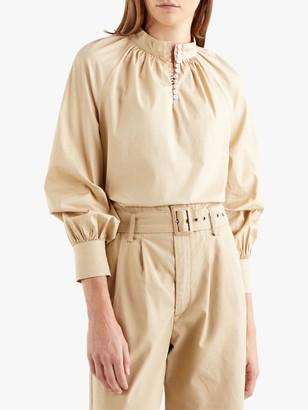 Levi's Gillian Mock Neck Long Sleeve Top, Mid Brown