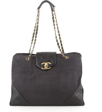 Chanel Supermodel Weekender Bag Canvas with Leather Large