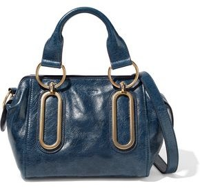 See by Chloe Paige Small Washed-leather Shoulder Bag