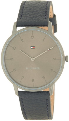 Tommy Hilfiger Men's Cooper Leather Strap Watch, 41mm