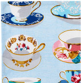 Maison Du Linge S/4 Tea Time Cocktail Napkins, Blue