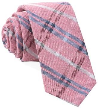 Tie Bar Plaid Drift Pink Tie