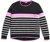 Aqua Girls' Color Tipped Wool Blend Sweater, Big Kid - 100% Exclusive