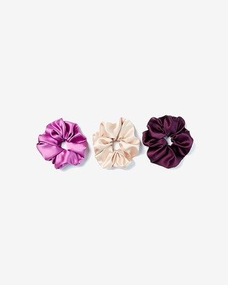 Express Set Of 3 Oversized Satin Ponytail Holders