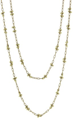 Ten Thousand Things 36 Inch Luxe X Beaded Yellow Gold Chain Necklace