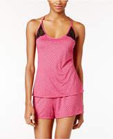 Linea Donatella Lace Racerback Cami and Shorts Printed Pajama Set