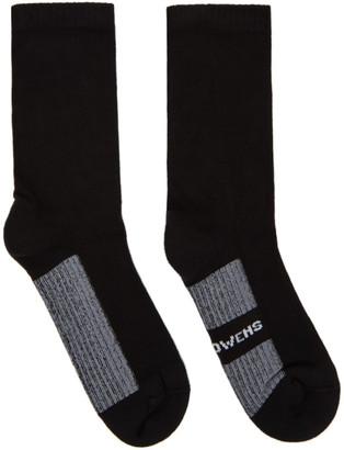 Rick Owens Black Glitter Socks