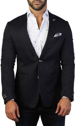 Maceoo Men's Descartes Contrast-Stitch Two-Button Jacket