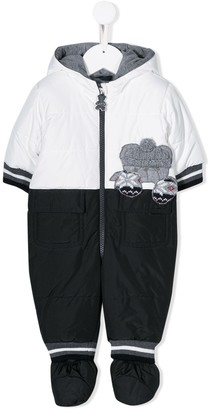 Lapin House Appliqued Hooded Onesie