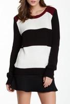 Olive + Oak Olive & Oak Long Sleeve Striped Knit Pullover Sweater