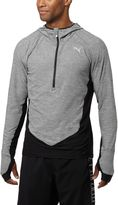 Puma Long Sleeve Half-Zip Hooded Running Top