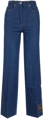 Gucci Flare Washed Denim Jeans