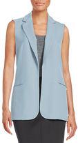 Calvin Klein Crepe Open-Front Vest