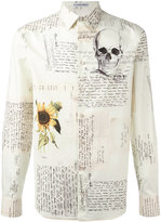 Alexander McQueen Letters From India shirt - men - Cotton - 39