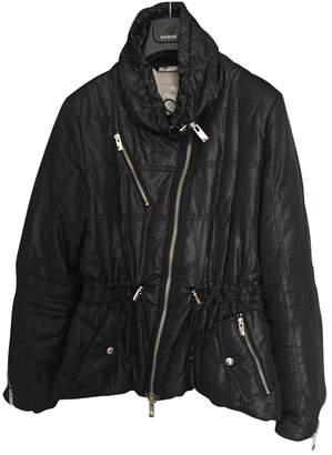 Hogan Black Leather Jacket for Women