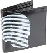 Alexander McQueen 4 Man Wallet Black/white