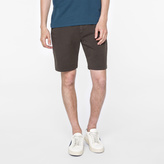 Paul Smith Men's Brown Garment-Dyed Stretch-Cotton Shorts