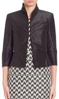 Pauw Cropped Silk Jacket