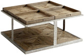 Theodore Alexander Quattor Coffee Table - Echo Oak echo oak/silver