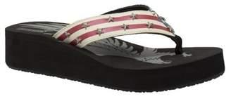 Ridetec Women's Thong US Flag Sandal Black