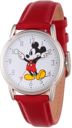 Disney Mickey Mouse Women's Red Strap Watch
