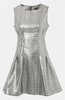 Sleeveless Metallic Shift Dress